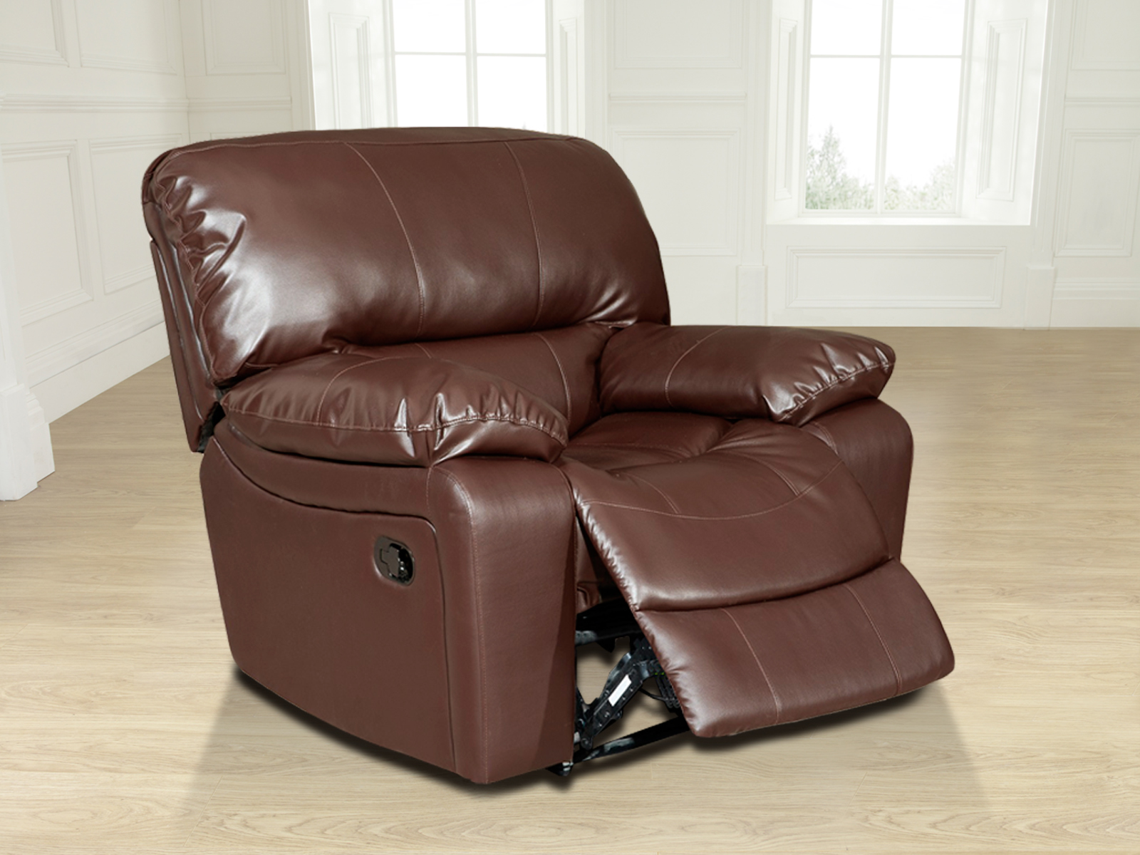 New valencia jumbo 1 seater bonded leather recliner chair - Sofas a medida valencia ...